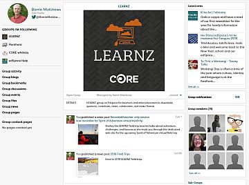 Join the LEARNZ group on edSpace
