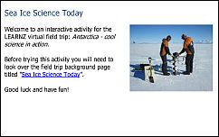 Sea Ice Science Today quiz