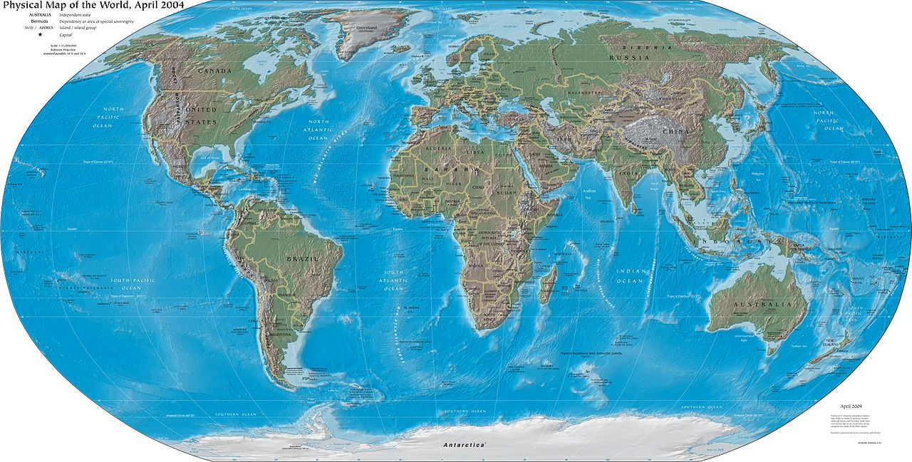Mapping our world learnz a modern map of the world can look different depending on the projection used what is a map projection image cia world factbook gumiabroncs Images