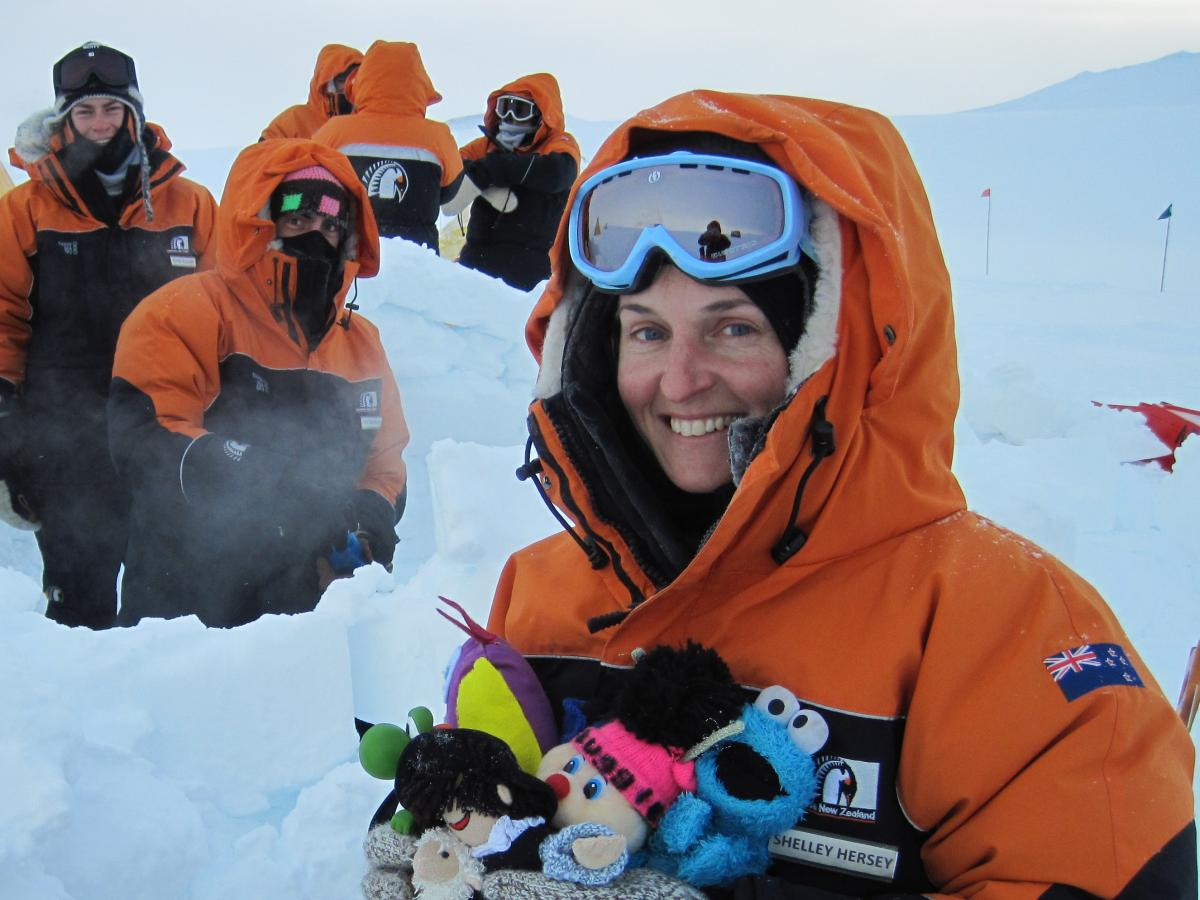 LEARNZ Teacher Shelley Hersey in Antarctica in 2012