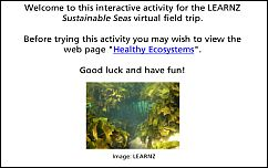 Healthy Ecosystems activity