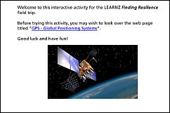 Activity 3 - GPS - Global Positioning Systems