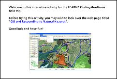 Activity 4 - GIS and Responding to Natural Hazards